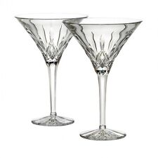Waterford Crystal Lismore Tall Martini Glasses Pair New
