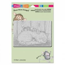 HOUSE MOUSE RUBBER STAMPS CLING CAT NAP NEW STAMP