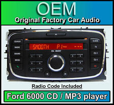 Ford 6000 CD MP3 player, Ford Transit car stereo headunit with Radio Code
