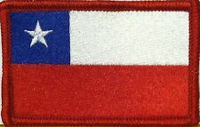 CHILE Flag Military Patch With VELCRO® Brand Fastener Red Emblem #302