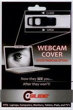 5 X c slide web cam cover in black