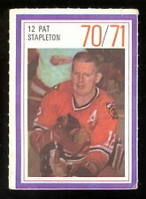1970-71 ESSO POWER PLAYERS NHL #12 PAT STAPLETON EX BLACK HAWKS UNUSED STAMP