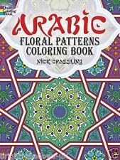 Arabic Floral Patterns Adult Colouring Book Creative Art Therapy Relax Floral