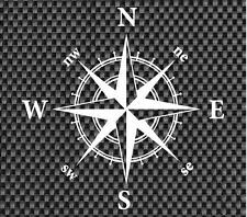 Nautical Compass Vinyl Decal Window/Car/Truck ***AVAILABLE 20 COLORS***