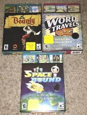 PC Puzzle Game Lot: Space Bound, Word Travels, Bounty, Windows 98/2000/ME/XP New