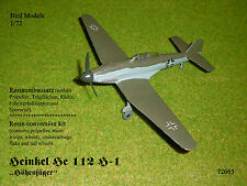 "Heinkel He 112 H-1 ""Höhenjäger""   1/72 Bird Models Umbausatz / resin conversion"