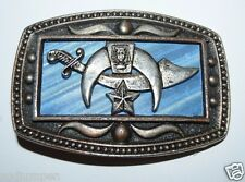 WOW Nice Vintage Shriners Freemasons Blue CII New York Belt Buckle Rare