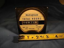 Westinghouse Electric Total Hours Meter 291B474A09 - 120 Volts