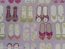 Harlequin Curtain Fabric TWINKLE TOES 4.6m Purple/Lilac Kids Shoes Design 460cm