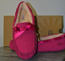NIB Ladies UGG Australia DAKOTA Exotic Scales Slippers Tropical Sunset Pink - 6