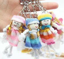 6pcs Mix Cute Little Girl Keychain Funny Doll Pendant Keyring For Souvenior Gift