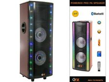 "QFX SBX-721000BTL 10"" Hi-Fi Tower DJ PA Speaker +Bluetooth +USB/SD/FM +LED Light"