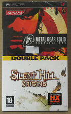 Double Pack - Metal Gear Solid Portable Ops + Silent Hill Origins - PSP - Nuovo