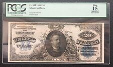New listing $20 Series Of 1891 Silver Certificate / Fr.322 / Pcgs 15 Fine
