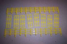 LIONEL PARTS 1887 YELLOW FENCE SET FOR GENERAL HORSE CARS (2LONG,8SHORT)