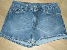 """Small 30' Waist """"Levis"""" Strauss  High Waisted Denim Shorts with vents on sides"""