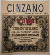 Cinzano Torino vecchia etichetta vermouth bianco di Francesco Cinzano rara vedi.