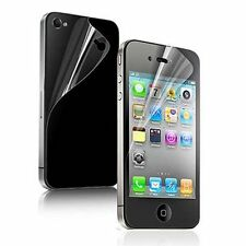 5 Clear Screen Protector Front Back Cover Skin Film For iPhone 4S/4 Anti-Scratch