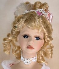 """DanDee Collectors Choice 17"""" Porcelain Doll Blond Hair With Blue Eyes Eyelashes"""