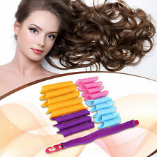 18Pcs DIY Magic Hair Curlers Curl Formers Spiral Ringlet Leverag Rollers