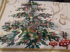 """Williams Sonoma 'Twas the night before Christmas table runner 108"""" x 20"""" New"""