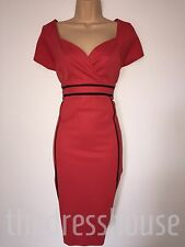 BNWT Red and black Size 12 savoir Slimming support Pencil wiggle Dress  RRP £55