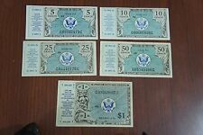 MPC Series 472 Lot Military Currency