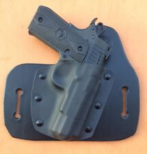 """Leather/kydex hybrid OWB holster Rock Island Armory M1911 A .380 """"Baby Rock"""""""
