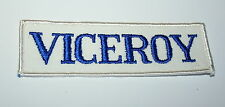 2 Vintage Viceroy Cigarette Auto White Racing Cloth Car Jacket Patch New NOS 70s