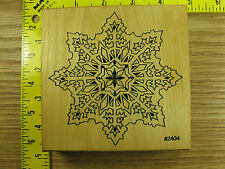 Rubber Stamp Large Snowflake by Comotion Christmas Winter Stampinsisters #3348