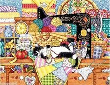 "Design Works Counted Cross Stitch Kit 16"" x 20"" ~ KITTY SEWING LESSON #2863 Sale"