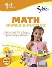 Math Workbooks Ser.: First Grade Math Games and Puzzles by Sylvan Learning...