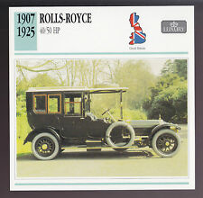 1907-1925 Rolls-Royce 40/50 hp Silver Ghost (1912 Limo) Car Photo Spec Info CARD