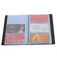 Black 300 Slot Business Name ID Credit Card Holder Book Case Organizer Wallet