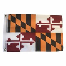 State of Maryland 12 X 18 Polyester Flag with Grommets #S2