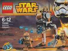 rare LEGO STAR WARS 75089 GEONOSIS  TROOPERS   with 4 minifigures New Nib Sealed