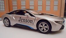 BMW i8 ANY NAME PERSONALISED Toy Car MODEL boy dad brother BIRTHDAY GIFT NEW