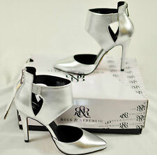 womens sexy silver metallic ROCK & REPUBLIC high heels size 6 MSRP $75 brand new