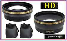 Pro HD Wide Angle & Telephoto Lens Set for Olympus E-620 E-520 E-420
