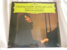 MARTHA ARGERICH Chopin 24 Preludes Op. 28 piano 180 gram vinyl SEALED LP