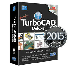 TurboCAD Deluxe 2015 2D CAD Design Software & 3D Modeling New FREE SHIPPING!