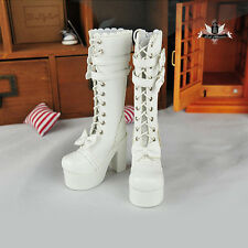 1/3 BJD Shoes Dollfie DREAM bow white High heels Boots Luts AOD DOD MID EID SOOM