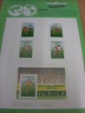 circa 1986 World Cup Mexico,  5 Lesotho Stamps, Taken From the World Cup Masterf