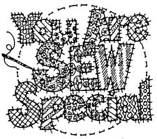 Unmounted Rubber Stamp, Mothers Day, Mom, Sewing Stamps, Patchwork, Sew Special