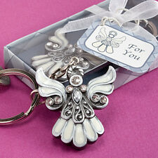 50 Angel Design Keychain Baptism Communion Christening favors Religious favor