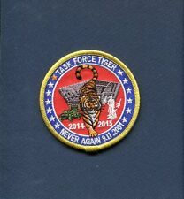 OPERATION TASK FORCE TIGER US ARMY + USAF AIR Guard DC Defense Squadron Patch