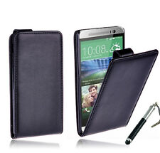 BLACK Premium Wallet Flip Stand Leather Case Cover For New HTC ONE MINI 2 (M8)