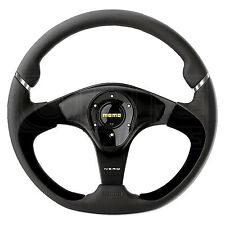 MOMO Nero Steering Wheel - Leather - Alcantara Inserts - 350mm