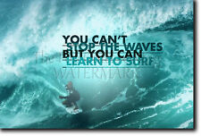 SURFING MOTIVATIONAL POSTER 10 QUOTE SURF MOTIVATION PHOTO PRINT GIFT WAVES