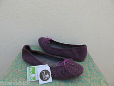 SANUK YOGA PRIMA BERRY ANIMAL DOT SUEDE BALLET FLATS SHOES, US 9/ EUR 40 ~NWT